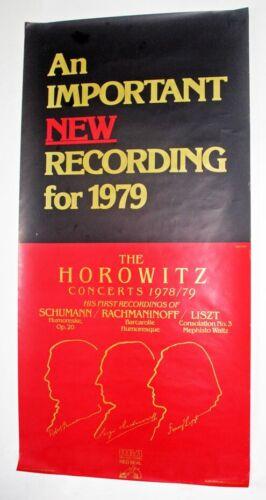 1978-79 HOROWITZ CONCERTS (SCHUMANN, RACHMANINOFF & LISZT) RCA PROMO POSTER