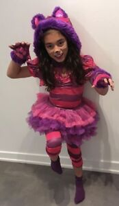 Girls Cheshire Cat Costume, Size 8