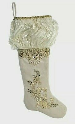Katherine's Collection Treasures Of The Sea Stocking NEW Ivory Sample