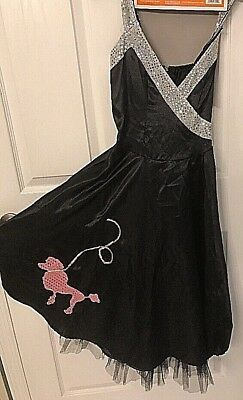 Halloween Adorable Hop Diva Poodle Dress Adult Size Small -Dress Only NEW