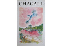 MARC CHAGALL - 'Opera rose' - original vintage exhibition poster - c1981 (Mourlot/Galerie Maeght)