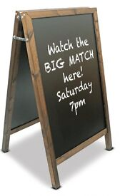 A1 Advertising Chalk Board (Brand New) for sale