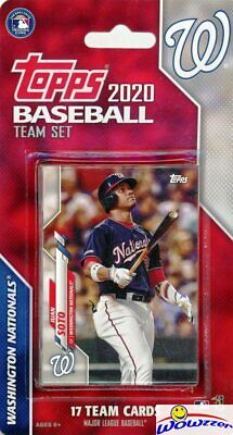 Washington Nationals 2020 Topps Limited Edition 17 Card Team Set-Soto,Strasburg+