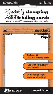 Ranger Inkssentials Surfaces Specialty Stamping Matte Artist Trading Cards ATC