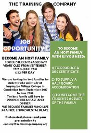 HOST FAMILIES REQUIRED IN CAMBRIDGE