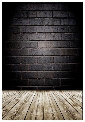 Fotografie Hintergrund Backsteinmauer 2x3M Studio Holzboden Hintergrund ()