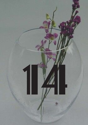 Wedding Table Numbers 1920's Theme 1-10,15, 20, or 25 Vinyl Sticker Decals  - 20s Themed Wedding