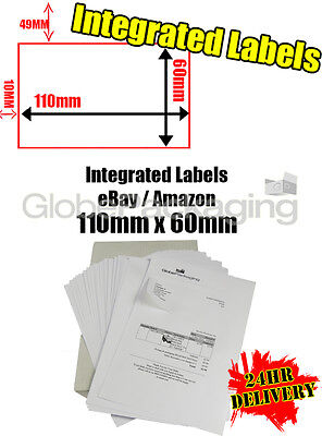 5000 x EBAY / AMAZON A4 INTEGRATED LABELS 110x60mm (S14 / G14) ADDRESS PEEL OFF