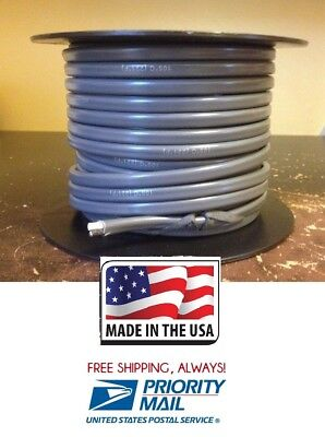 Trailer Light/Brake Cable Wiring Harness 14 Gauge 2 Wire Jacketed Gray 100' Roll