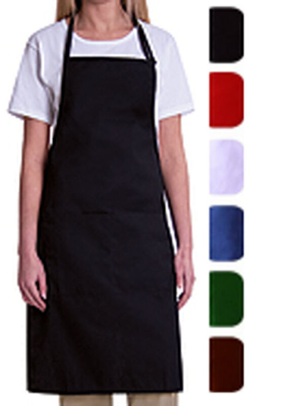 1  PIECE NEW SPUN POLY KITCHEN COMMERCIAL RESTAURANT BIB APRON
