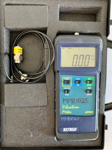 Extech 407860 Heavy Duty Vibration Meter Acceleration Velocity Displacement