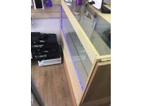 Glass Shop Counter with LED light