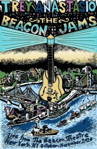 Jim Pollock Trey Anastasio Beacon Jams COLOR Variant Print Signed by Trey x/500