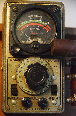 Simpson Wavemeter - Modulation Indicator Model 380 W Operators Manual-vintage
