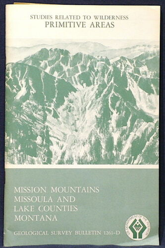 USGS MONTANA GEOLOGY Mineral Resources of MISSION MOUNTAINS Missoula & Lake Co