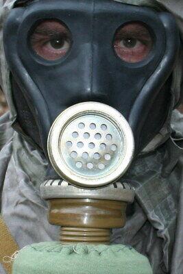 Russische Gasmaske Schutzmaske schwarz Gr. 2 mit Filter neu und asbestfrei!