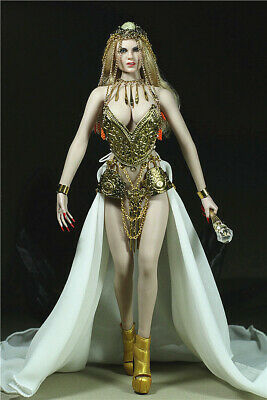 1/6 Queen of Egypt Costume Set Alloy Corset Long Dress Fit 12in. PH Figure Doll ](Costume Of Egypt)