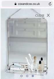 Cox and cox mirror shelf