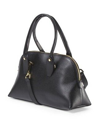 Innue Black Leather Bugatti Satchel Handbag Made In Italy NWT