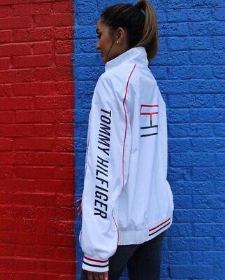 Tommy Hilfiger Jacket 90s White Vintage Logo Women's Medium RARE SOLD OUT