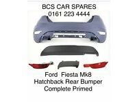 Ford Fiesta Mk8. Hatchback Rear Bumper Kit Complete Primed W