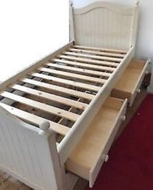 Children's Sherborne Bed with handy 4 drawer storage unit by ASPACE.