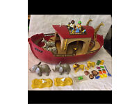 Playmobil large Noah's ark playset boat figures animals floats in bath like Lego toy