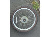 Rear bike wheel