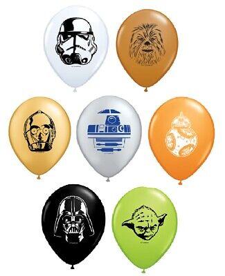 "8 x 12.5cm (5"") STAR WARS Small Latex Balloons (Birthday Party Decor)(Qualatex)"
