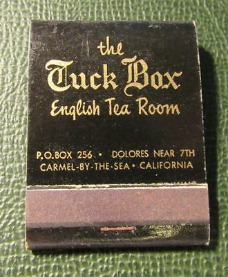 Tuck Box Tea Room - Matchbook - The Tuck Box English Tea Room Carmel by the Sea CA FULL