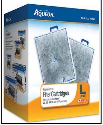 AQUEON LARGE 12 Pack FILTER CARTRIDGE FITS QUIET FLOW 20.30,