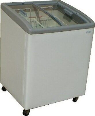 28 Curve Glass Top Sliding Lid Ice Cream Display Freezer Ast-30 Fthg5sgi