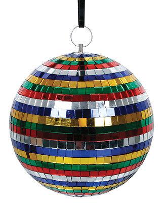 Spiegelkugel Bunt / Discokugel 20cm / Diskokugel mit echten bunten Glas Spiegeln