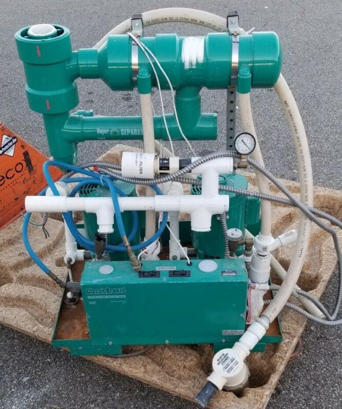 ADP Apollo Classic Bronze Dental Dual Vacuum Suction Pump W/ Super Separator