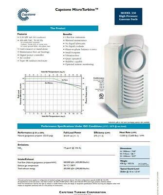 Capstone Microturbine Micro Turbine Generator 330 C30 30kw Natural Gas