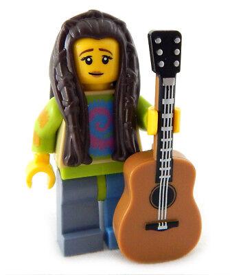 NEW LEGO FEMALE HIPPIE w/GUITAR singer songwriter minifig minifigure musician - Hippie Singer