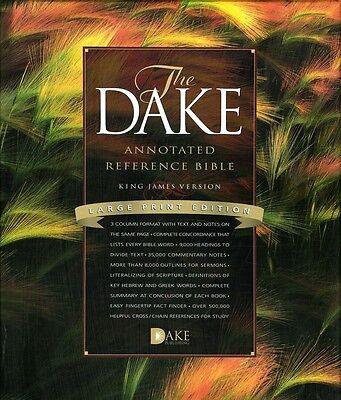 Kjv Dake Annotated Reference Bible  Large Print  Bonded Leather  Black