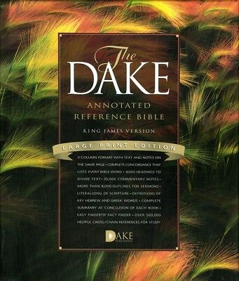 KJV Dake Annotated Reference Bible, Large Print, Bonded leather, Black for sale  Shipping to Canada