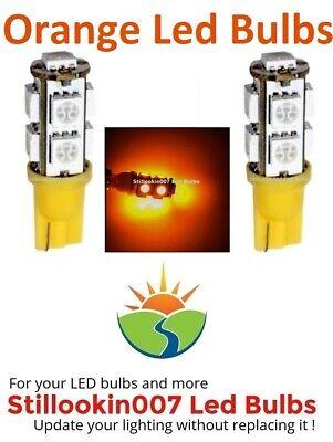 2 - Landscape LED bulbs, ORANGE 9LED T5 Path, Garden & Landscape Lighting
