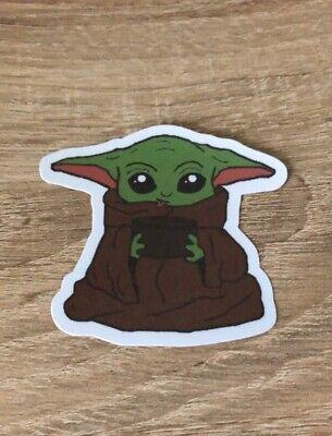 Baby Yoda Laminated Sticker - Vinyl Stickers - Star Wars - The Mandalorian -
