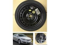 Vauxhall insignia Space saver wheel inc tool kit