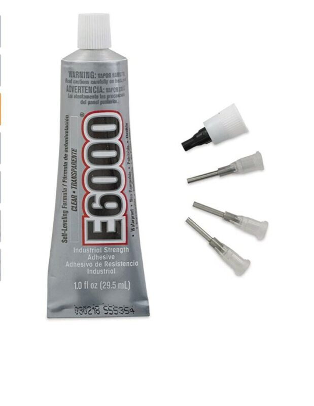 E6000 1-Ounce Tube with Precision Tips Industrial Strength Adhesive for Crafting