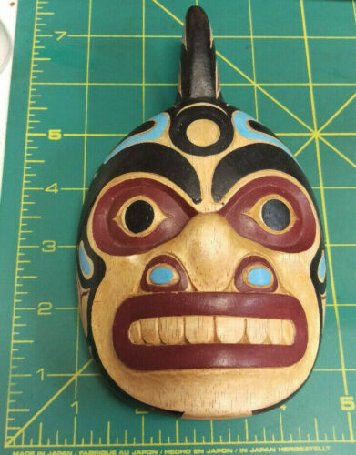 Wood Tribal Style Orca Mask - hand carved and hand painted - beautiful!