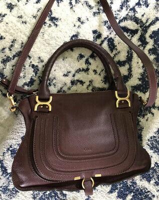 chloe marcie medium leather satchel Burgundy