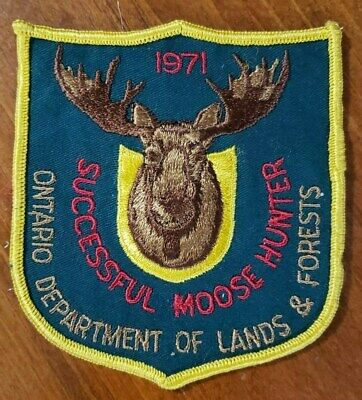 1974 Ontario Successful Deer Hunting Patch Michigan Bear Moose Turkey #1