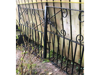 Wrought iron driveway gates suit opening of 8' patio garden shed pen