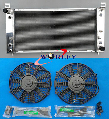 Aluminum radiator & fan for Chevrolet Silverado 1500 2500 3500 4.8L 5.3L 6.0L V8