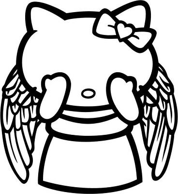Hello Kitty Doctor Who Weeping Angel Vinyl Car Window Laptop Decal Sticker - Weeping Angel Kitty