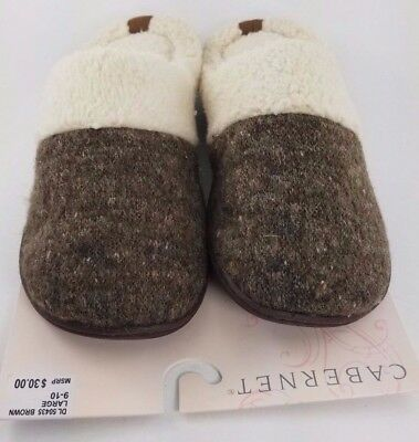 Cabernet by Dearfoams Brown Glitter Slipper Clogs  (Choose Size) NEW WITH