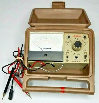 Vintage Heathkit Utility Solid State Voltmeter Im-17 Antique Tester Untested